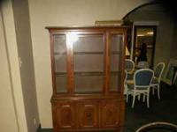 NICE SOLID WOOD CHINA CABINET CALL  Location: