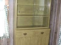 For sale: $100 FIRM.... Green china cabinet that I have