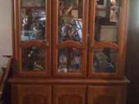 Large China Cabinet for sale. Its very nice and made of