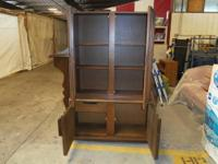 CHINA CABINET DARK WOOD! THIS IS A REAL NICE PIECE JUST