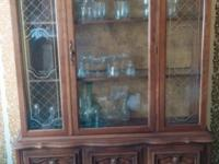 All wood vintage china cabinet in fantastic condition!