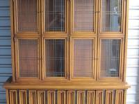 Includes large Glass Panel Doors Upper section includes