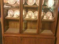 "Very nice china cabinet for sale $250. Height is 65"","