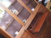 CHINA CABINET  WITH DESK  REAL NICE CON  $$125.00  have