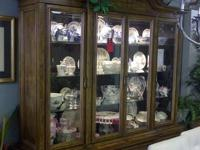 I have a lovely china cabinet top made from solid wood