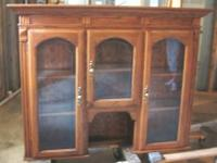 Beautiful 2 Item China Cabinet. Strong oak with