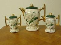 Beautiful china 3-item set for coffee: coffee server,