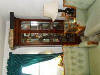 china/ curio cabinet. 84 inches tall and 36 inches