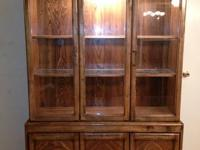Large lighted china hutch for sale. Top is separate