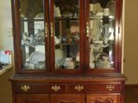 Solid cherry china hutch. Price reduced.  It is in very