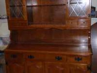 For sale Ethan Allen Hard Rock Maple China Hutch 6 ft.