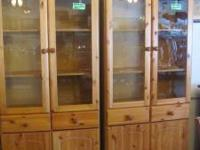 I have two china cabinets for sale Light color wood
