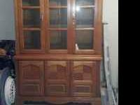 China Hutch for sale Glass Shelves (1) pullout drawer