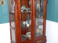 Beautiful Hand carved China Hutch...Removable Top
