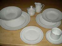 CHINA SET FOR 12 PEOPLE ELITE GIBSON HOUSE WEAR CHINA