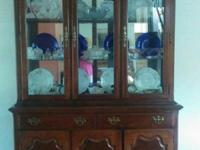 Cherry china cabinet, approximately 25-30 years old,