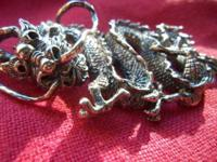 This is a ONE-OF-A-KIND Dragon Pendant. -Measures 2 3/4