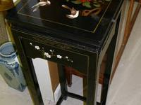Gorgeous black lacquer fern stand. Will look great with