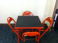 Type:FurnitureBeautiful folding table with 4 chairs in