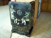 Chinese Storage Cabinet, in good condition, has Ivory
