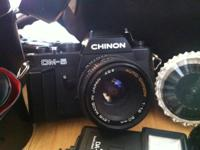$50 or best offer Chinon Cm-5 with bag. Comes with