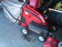 5 hp wood and leaf chipper shreader leaf vac...self