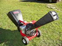6.5 HP chipper. Barely used. $250.00 reply to email or