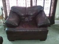 chocolate brown leather furniture, matching couch,