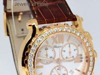 Chopard Happy Sport Chronograph 18k Rose Gold &