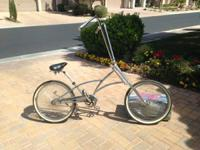 All chrome customized chopper bike, developed from a