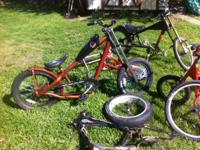 i am noting a lot of bikes and bike parts. removing and
