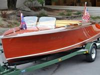 1940 Chris-Craft 19' Custom Runabout Barrelback Model