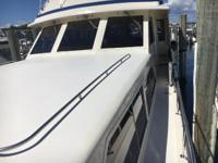 A clean, impeccably maintained motor yacht perfect for