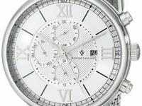Christian Van Sant silver men's Somptueuse analog