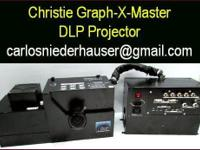 Christie Graph-X-Master video projector for sale. Two