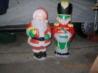 Vintage Christmas Blow Molds. This is a Santa - 30""