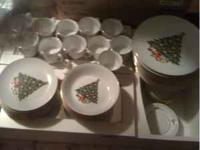 Christmas Dishes Jamestown China Made in China Gold