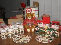 In this set, there is a large teddy bear cookie jar,