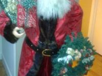 5 foot tall Elegant Santa. 7 1/2 foot Lighted Christmas