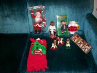 Many new Christmas decorations, figurines, and so on.