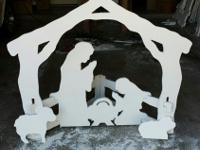 The nativity set is made from an aquatic grade plastic