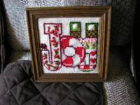 Christmas needlepoint pictures $5.00 for both or best
