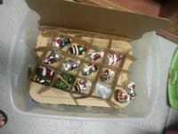 Two tubs of Christmas ornaments and decorations...$15
