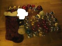 Christmas Ornaments, STOCKING, SANTA HAT IS PRICED TO