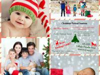 Family Christmas Photo sessions starting at $60 for 30