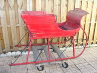 1920's Two-person Christmas Sleigh designed to be