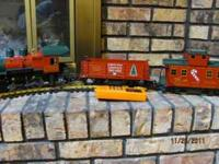 Mint conditon G scale Christmas electric train. Made by