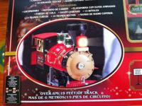 North Pole Express radio regulated train set. 19' of