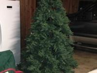Pre-lit Christmas tree in good condition, but missing