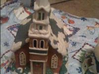 I have one snow globe music box Two x-mas villa houses
